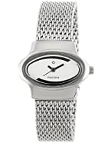 Maxima Attivo Analog White Dial Women's Watch - 26442CMLI
