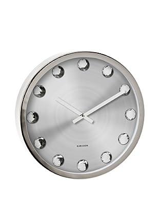 Karlsson Big Diamond Wall Clock (Silver)
