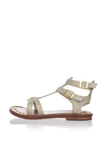 Matt Bernson Women's KM Gladiator Flat Sandal (Gold)