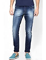 Blue Regular Fit Jeans Peter England