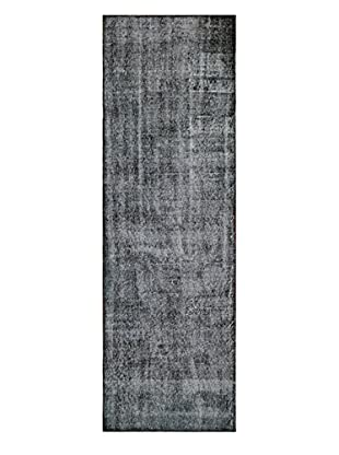nuLOOM One-of-a-Kind Hand-Knotted Vintage Turkish Overdyed Rug, Black, 3' 2