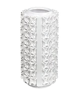 Privilege International Small Textured White Ceramic Vase
