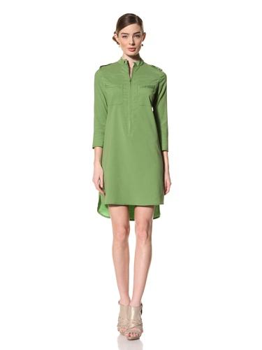Magaschoni Women's Long Sleeve Shirt Dress (Jade)