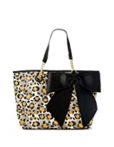 Betsey Johnson Bow Tastic Tote Shoulder Bag, Cheetah,One Size