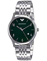 Emporio Armani End-of-Season Analog Green Dial Men's Watch - AR1943