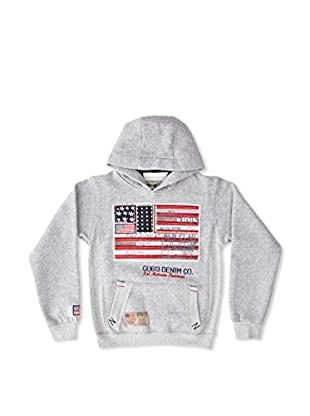 Gangster Unit Sudadera Flagamerica Boy (Gris)
