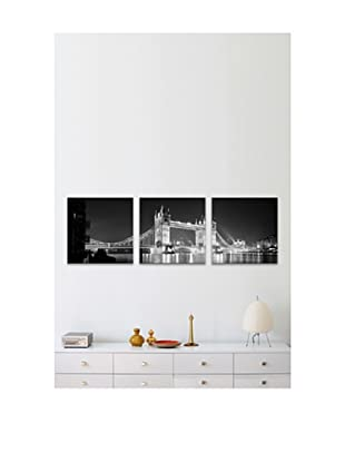 Tower Bridge Panoramic Giclée Canvas Print Triptych