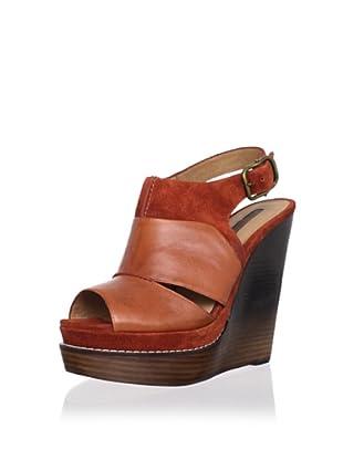 Modern Vintage Women's Liana Wedge Sandal (Brown Rust/Brown)