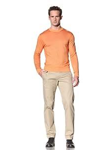 Cruciani Men's Crew Neck Knit Sweater (Orange)
