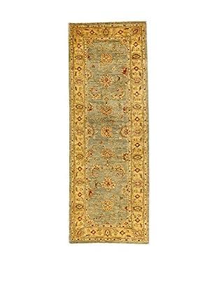 L'Eden del Tappeto Teppich Royal Farahan beige/grün 226t x t83 cm