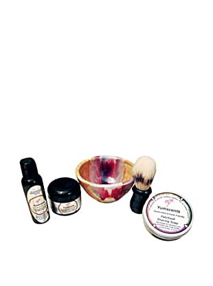 Yumscents Shaving Kit with Handcrafted Pottery Bowl, Patchouli