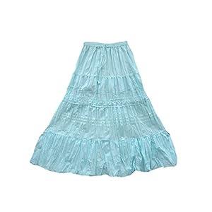 Indiatrendzs Blue Long Cotton Skirt