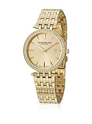 Stührling Original Uhr mit Schweizer Quarzuhrwerk Garland 579.03 goldfarben 34  mm