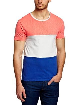 Scotch & Soda Camiseta Franck (Coral / Blanco / Azul)