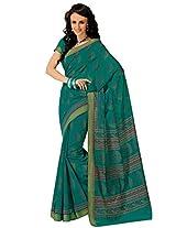 Orbymart Green Color Cotton Printed Saree - 55628966