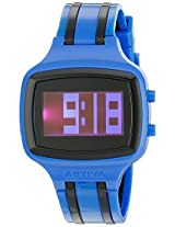 Activa By Invicta Unisex Aa400-003 Black Digital Dial Dark Blue And Black Polyurethane Watch - Aa400-003