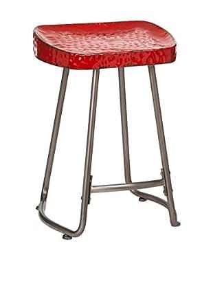 Premier Housewares  Taburete 2403561 Rojo