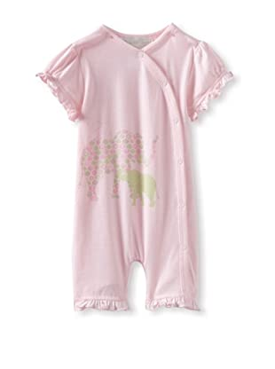 Lucky Jade Elephant Cotton Coverall (Pink)