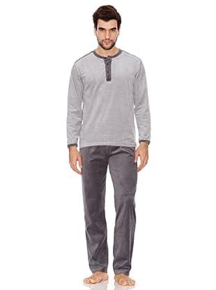 Blue Dreams Pijama Caballero Terciopelo (gris)