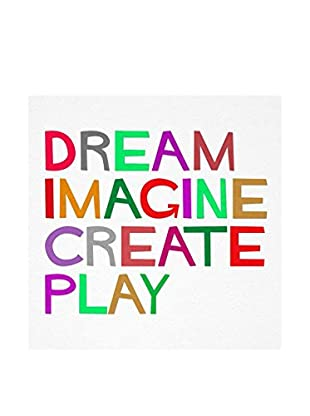 NOORMAL Leinwandbild Dream Create Imagine