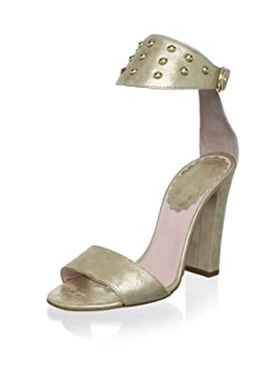 Red Valentino Women's Studded Ankle Strap Sandal (Ivory)