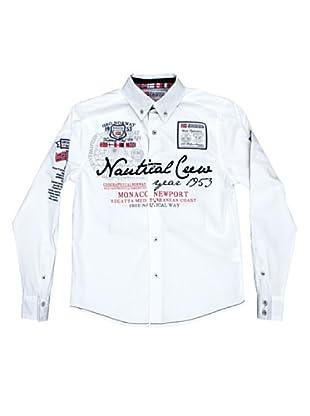 Geographical Norway Camisa Manga Larga Zautical (Blanco)