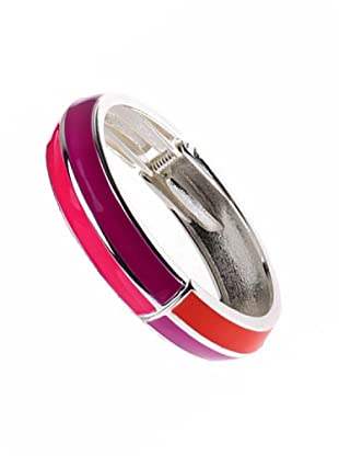 Fashion Victime Bangle Smaltato fucsia corallo