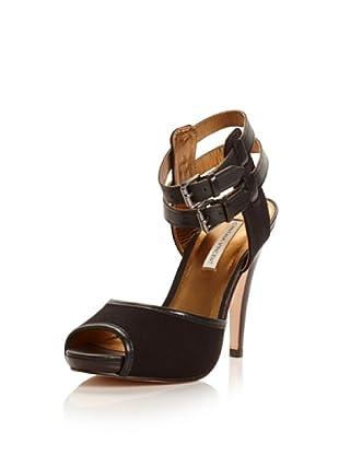 Cynthia Vincent Women's Adler Platform Sandal (Black/black)