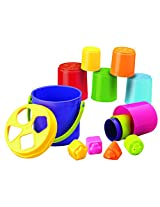 BKids Shape Sorting Stack 'n' Nest Bucket Toy