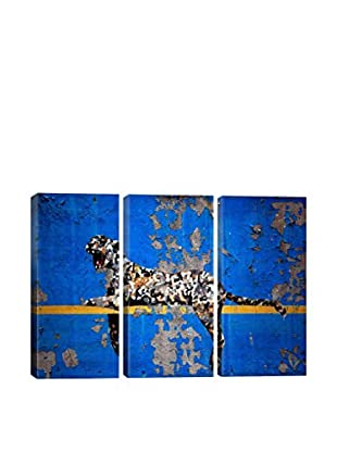 Banksy Yankee Stadium Tiger Gallery Wrapped Triptych Canvas Print
