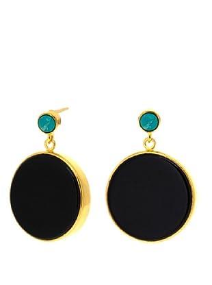 Melin Paris Pendientes Black Onyx and Turquoise
