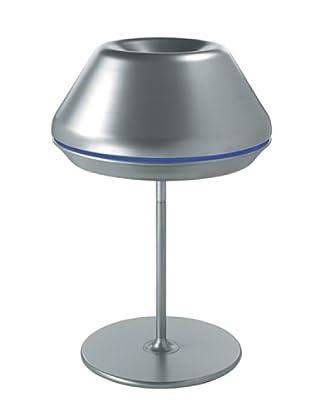 LUCENTE Tischlampe Spool grau