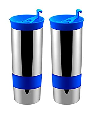 asobu Set of 2 Hot Coffee & Tea Press, Blue