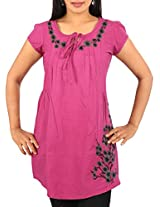 Arclines Women's Regular Fit Tunic (Cc5112174_2Xl, Pink, 2Xl)
