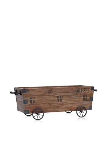 Industrial Chic Wooden Cart