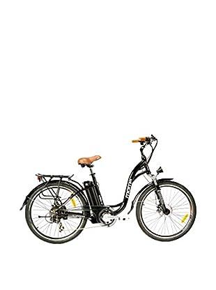 MOMA BIKES Bicicletta Ebike 26 Alu 7V 36V250W Lithium Nero