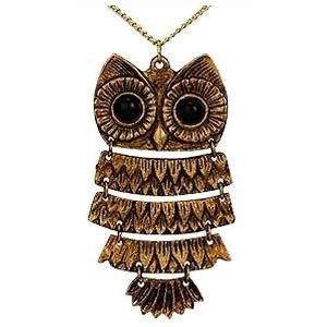 Pretty Owl Pendant in Brass Alloy by The Pari