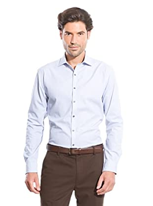 Cortefiel Camisa Rayas (Azul Claro)