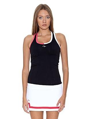 Naffta Camiseta Tenis / Padel (Negro / Fucsia)