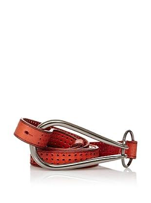 Sándalo Cinturón Perforaciones (Rojo)