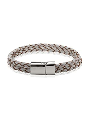 Van Maar Armband Echtleder, weiß