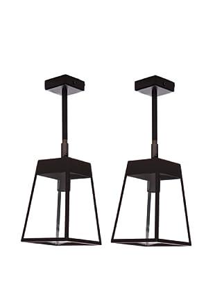Lámpara de diseño Set de dos apliques Linterna