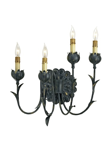 Currey and Company Quadrille Wall Sconce, Right Side