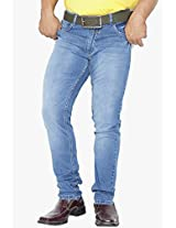 Blue Low Rise Narrow Fit Jeans Canary London