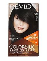 Revlon Colorsilk Hair Color With 3D Color Technology 1Wn (Soft Black)