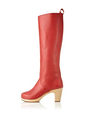 Swedish Hasbeens Women's Knee-High Jodhpur (Red)