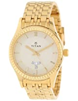 Titan Regalia Analog Beige Dial Men's Watch - NC1528YM05