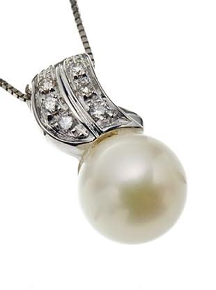 Emi Kawai Kette Weißgold 18k Brillant Perle 7,50 mm