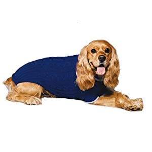 Fashion pet classic cable dog sweater