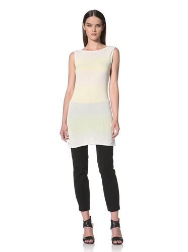 JIL SANDER NAVY Women's Stripe Sleeveless Tunic (Yellow)